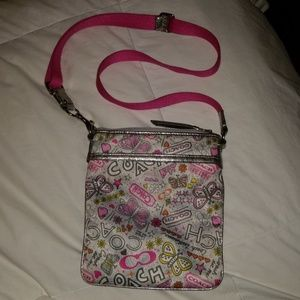 Coach Pink Butterfly Crossbody Purse